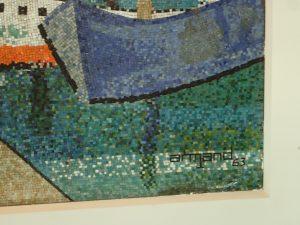 """Mosaic del carrer Ganduxer, 107 amb la signatura """"Armand"""""""