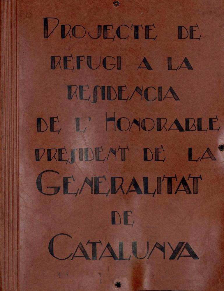 Carpeta del projecte de refugi a la Rambla de Catalunya, 33. Arxiu Històric de la Ciutat de Barcelona
