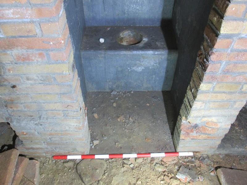 Latrina al refugi Torre de la Sagrera. Servei d'Arqueologia de Barcelona