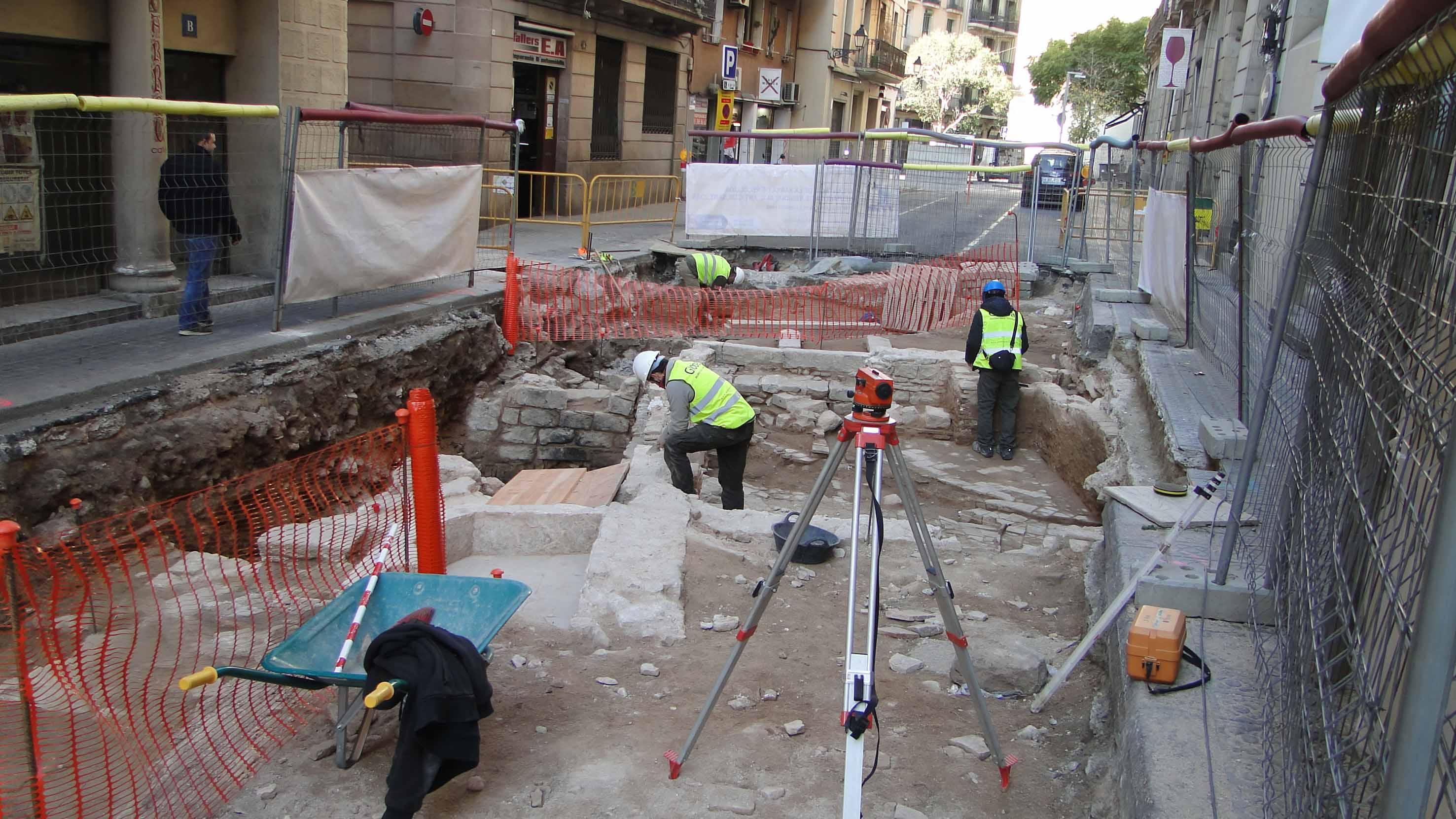 Treballs arqueològics en procés. Foto: Walter Alegria