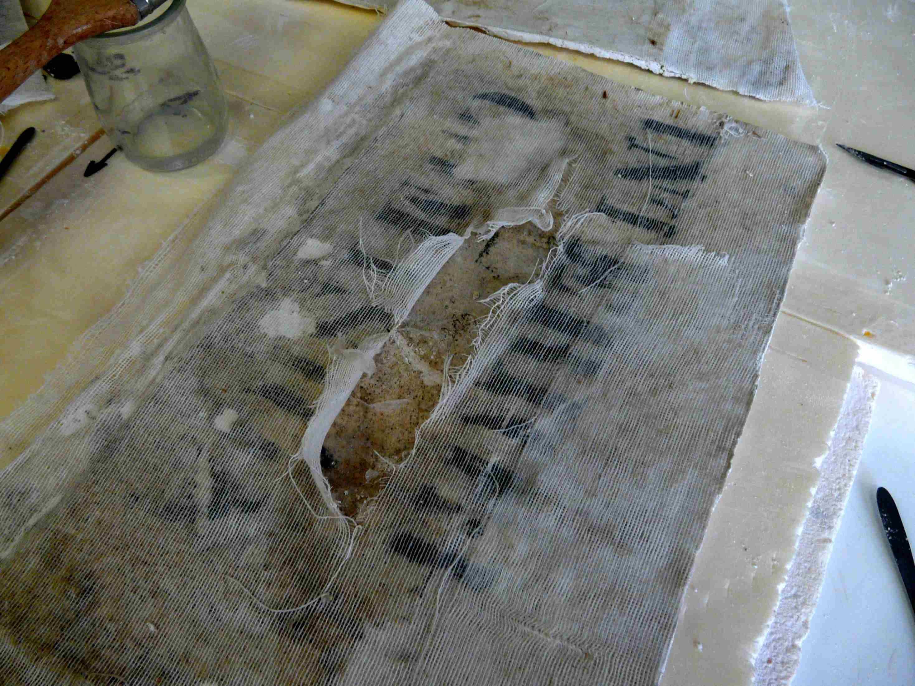 Detall (Foto Servei d'Arqueologia)