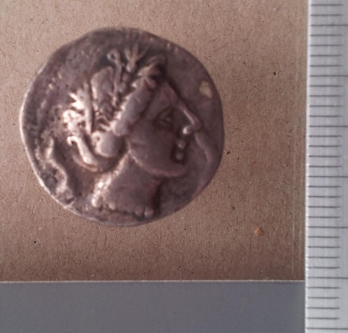 Anvers de la dracma de plata de Barkeno que es troba actualment al Museu Nacional de Dinamarca (Copenhaguen). Foto: Museu Nacional de Dinamarca