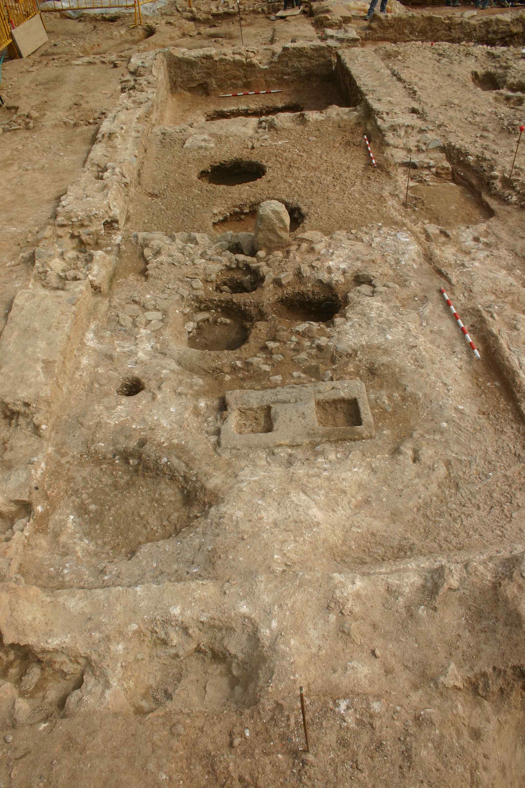 Vila romana Sagrera. Premsa de vi. Foto: Daniel Alcubierre (Còdex)