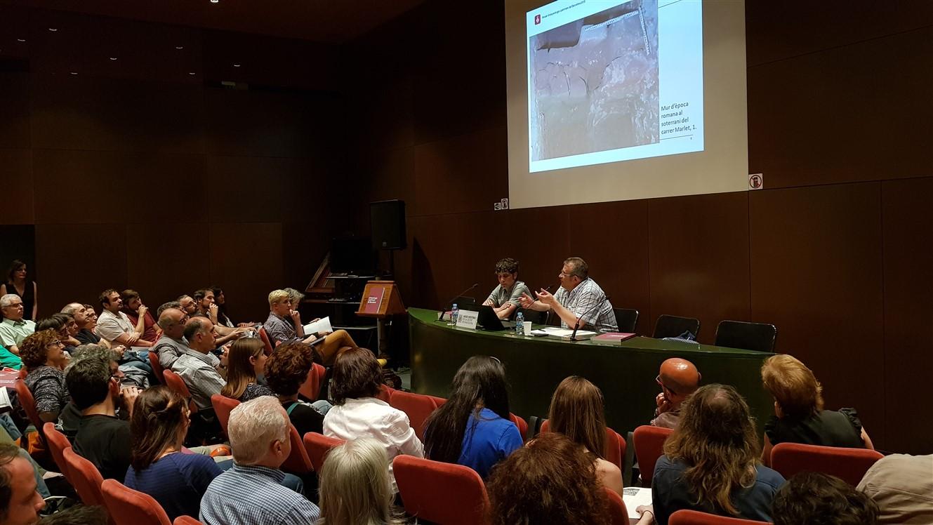 Presentació Anuari d'arqueologia i patrimoni 2015. Arxiu Històric de la Ciutat