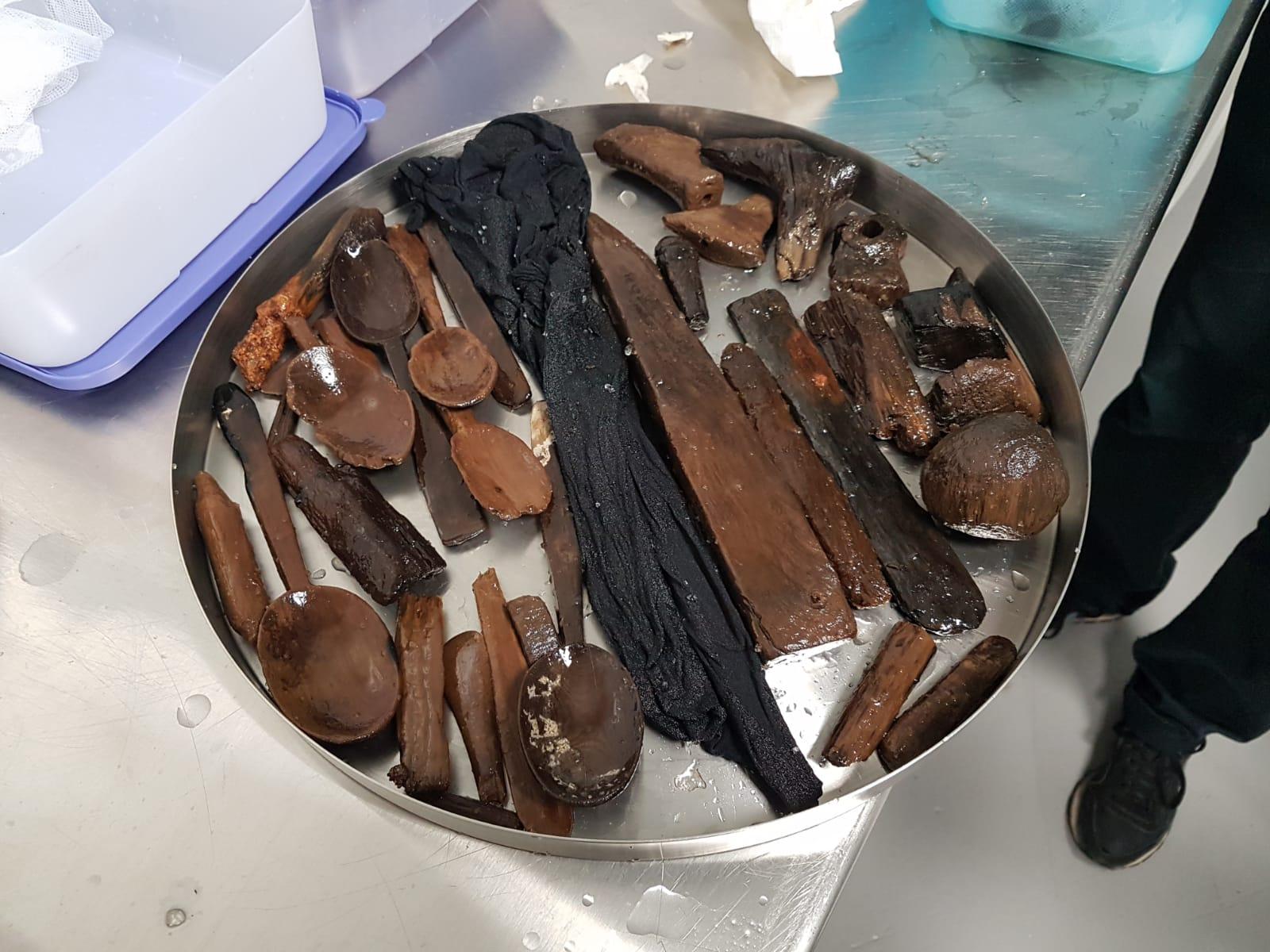 Culleres i resta de peces preparades per a la congelació. Foto: SABCN