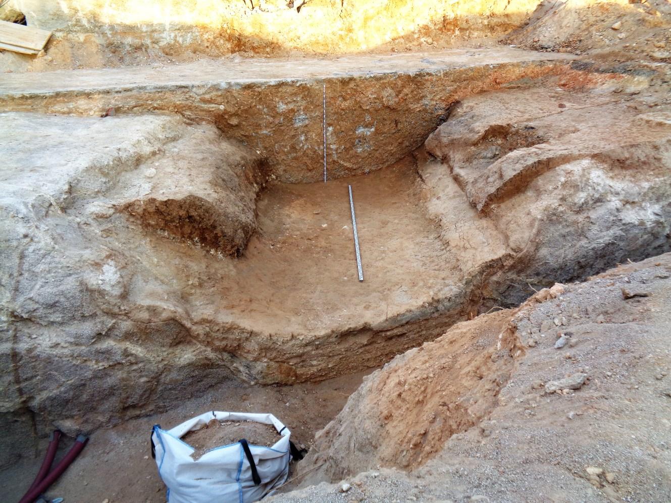 Procés d'excavació del tram 1 del Rec Comtal. Foto: Oscar Varas.