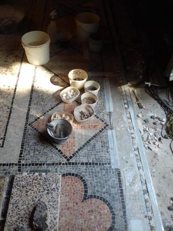 6. RACAB, reproducció de la franja perimetral (Foto: Servei d'Arqueologia)