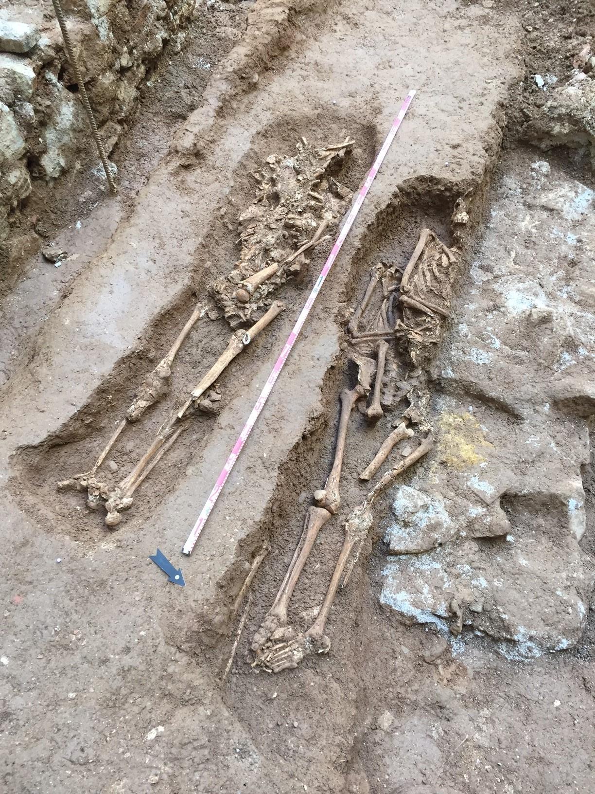 Dos enterraments adults. Foto: Jordi Ramos