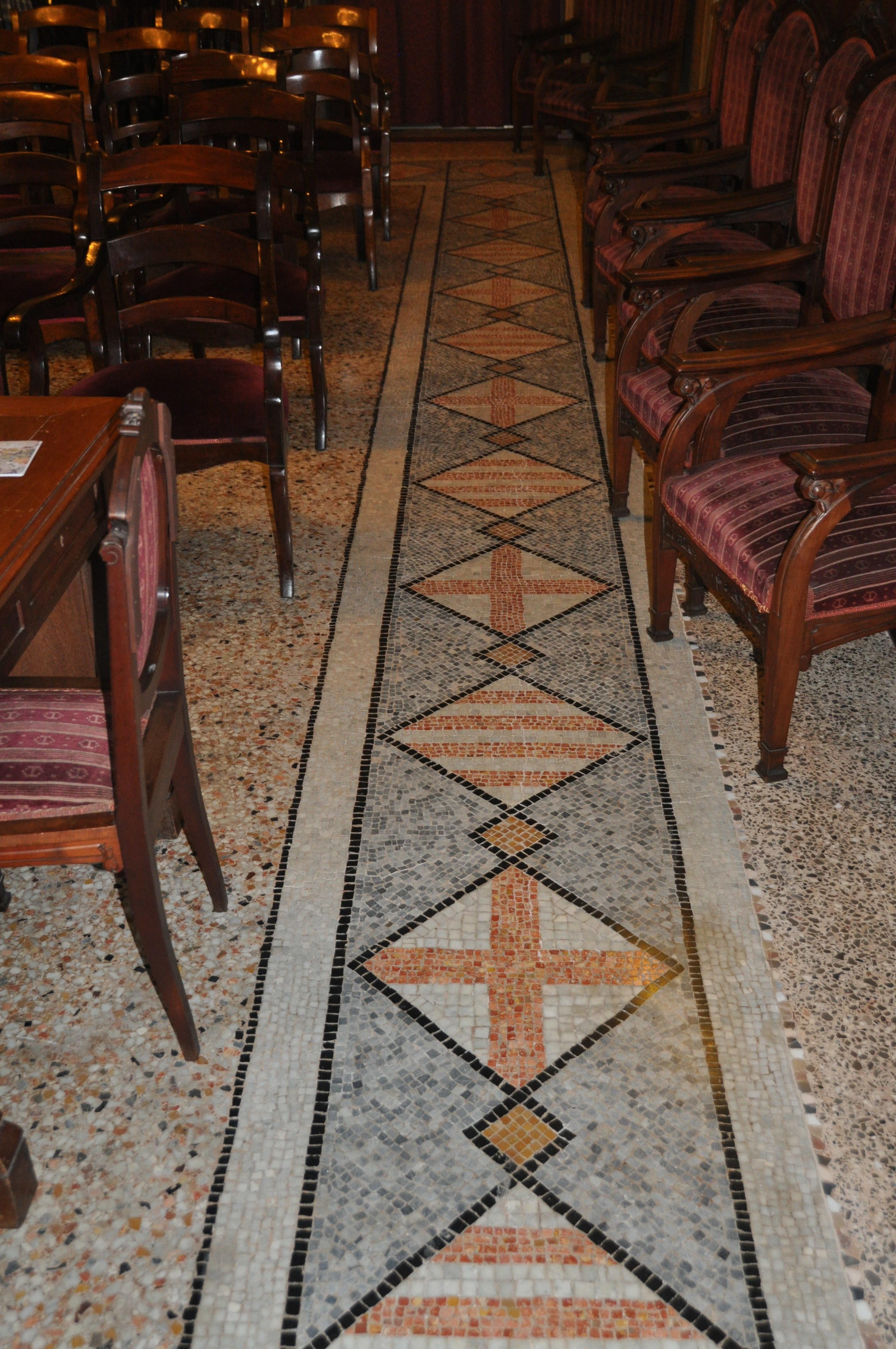 7. RACAB, aspecte del mosaic després de la intervenció (Foto: Servei d'Arqueologia)