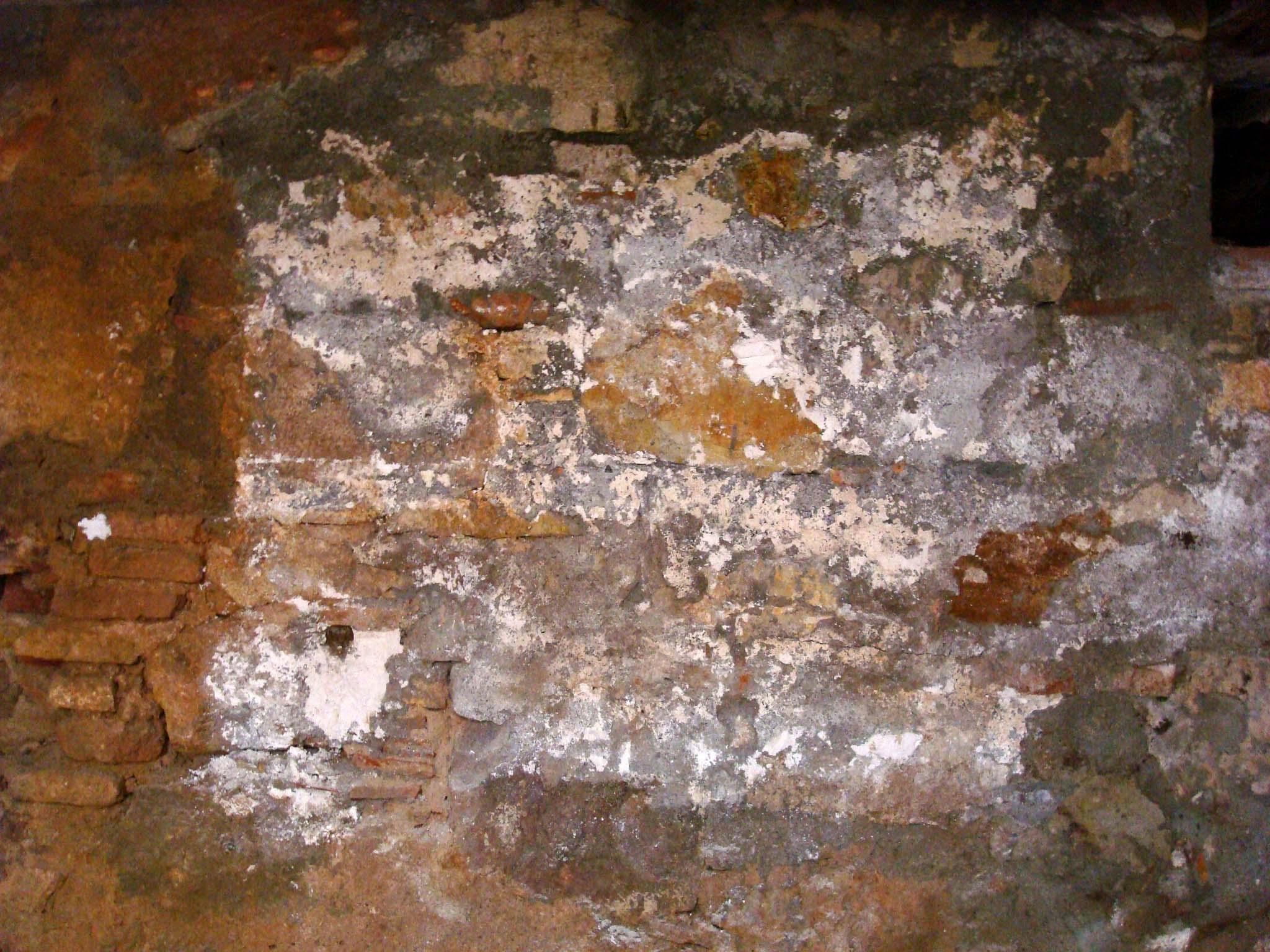 Vista del mur, un cop extret el cartell (Foto ÀBAC Conservació-Restauració S.L.)