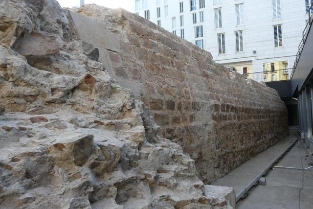 Vista anterior després de la intervenció (foto: Servei d'Arqueologia).