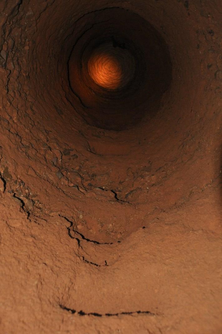 Vista d'una de les sortides del tram de la mina de Jesús. Foto: Servei d'Arqueologia de Barcelona