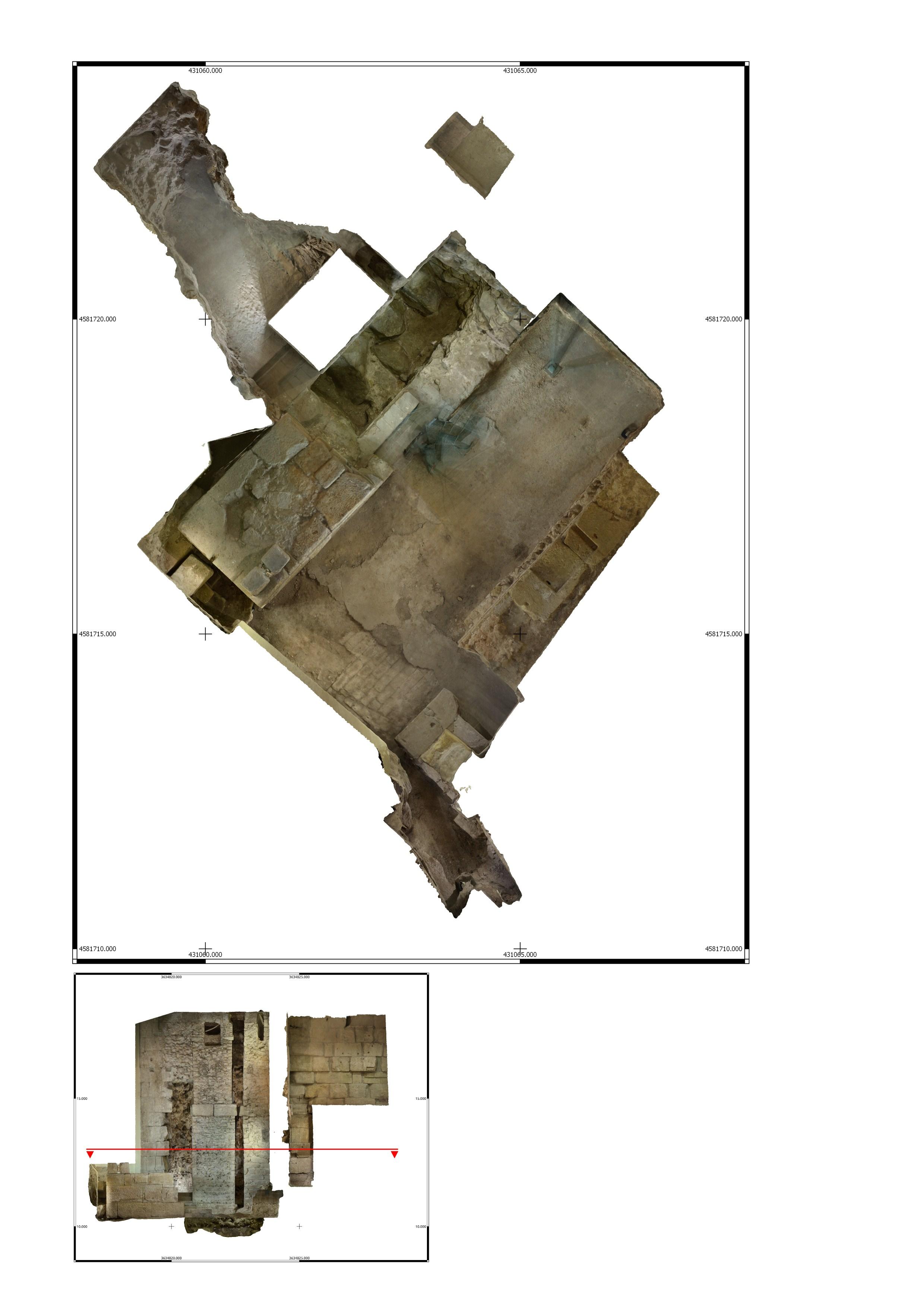 Escàner zenital 3D de l'interior de la torre 1 a la Casa de l'Ardiaca. Imatge: Joan García Biosca.
