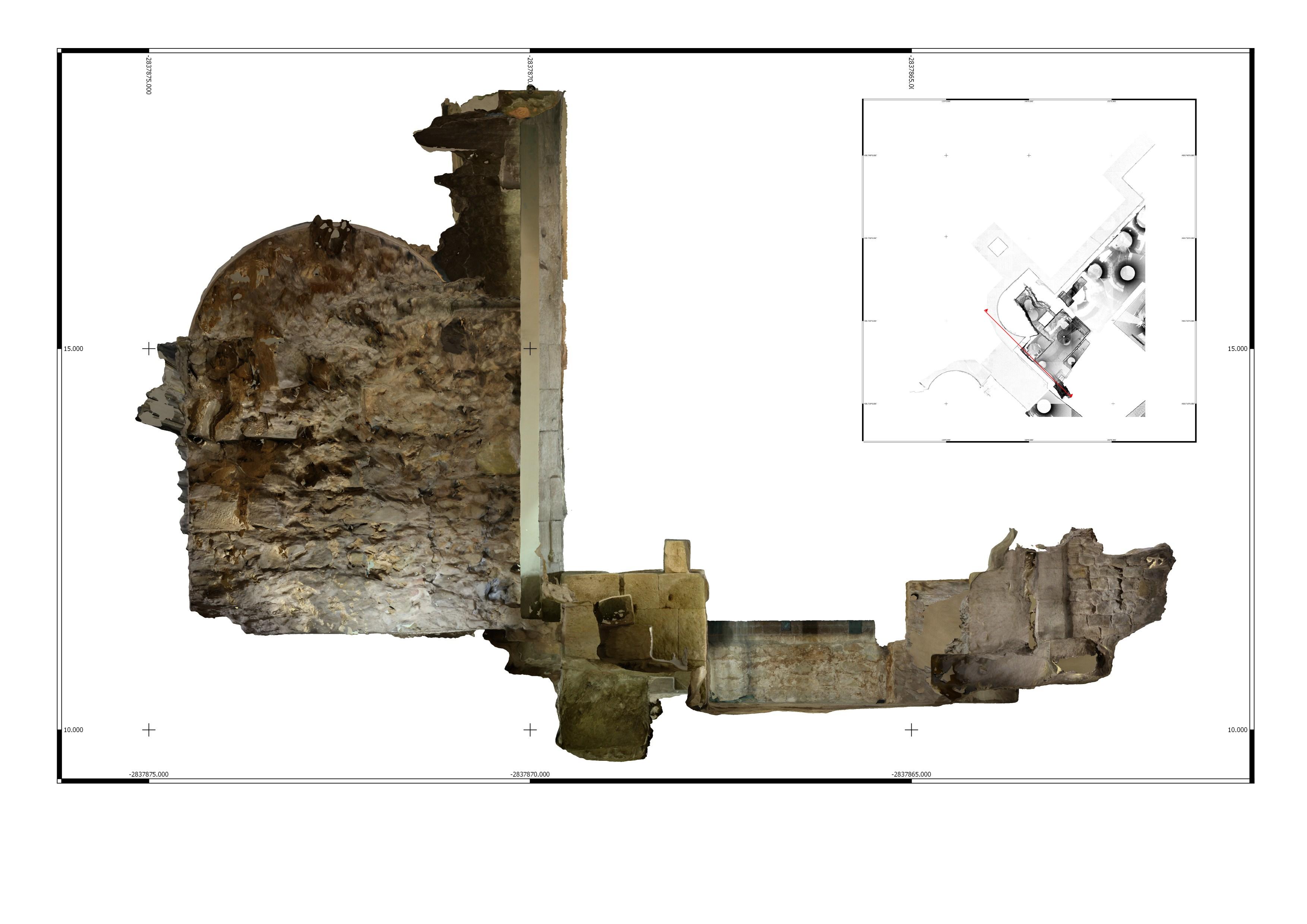 Escàner esquerra 3D de l'interior de la torre 1 a la Casa de l'Ardiaca. Imatge: Joan García Biosca.