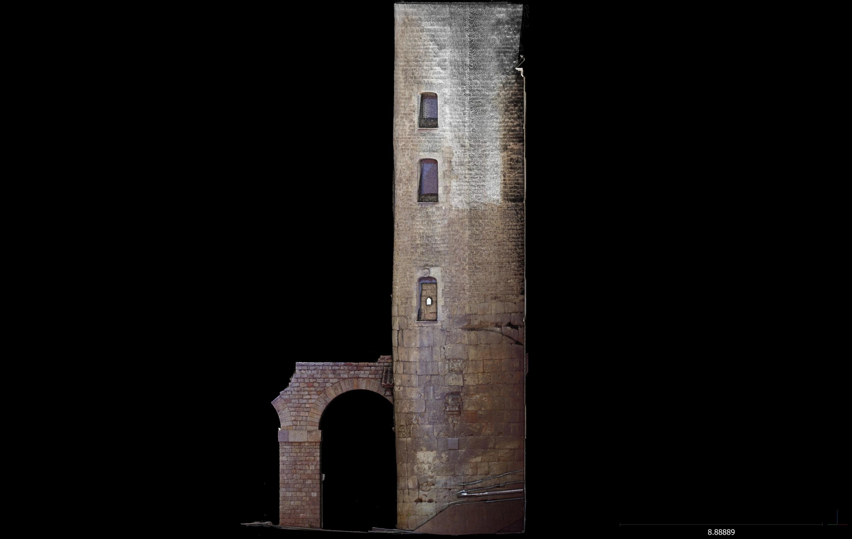 Escàner lateral dret 3D de la torre 1. Imatge: Joan García Biosca