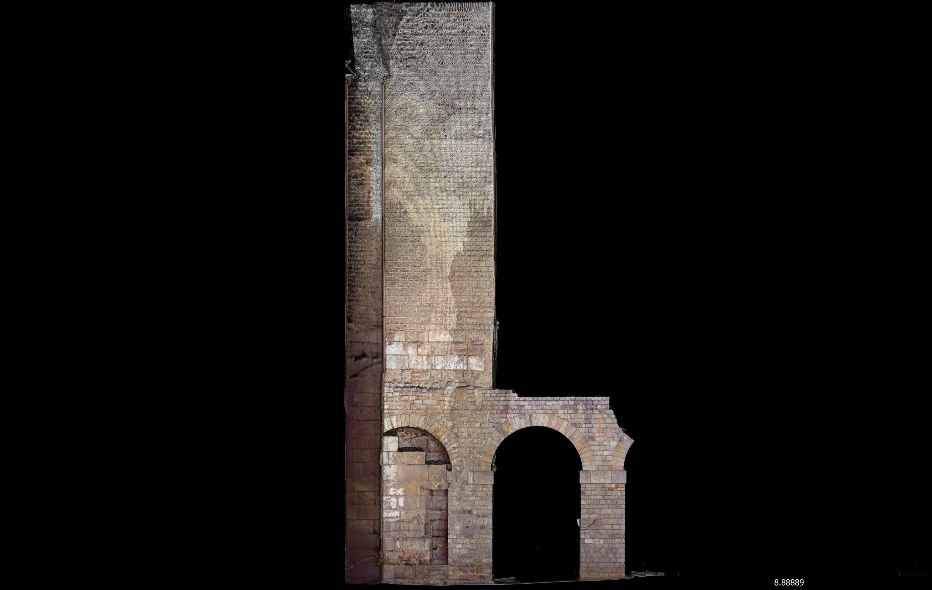 Escàner lateral esquerra 3D de la torre 1. Imatge: Joan García Biosca