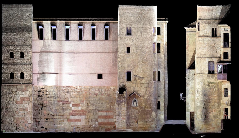 Escàner frontal 3D de la Porta del Bisbe. Imatge: Joan García Biosca