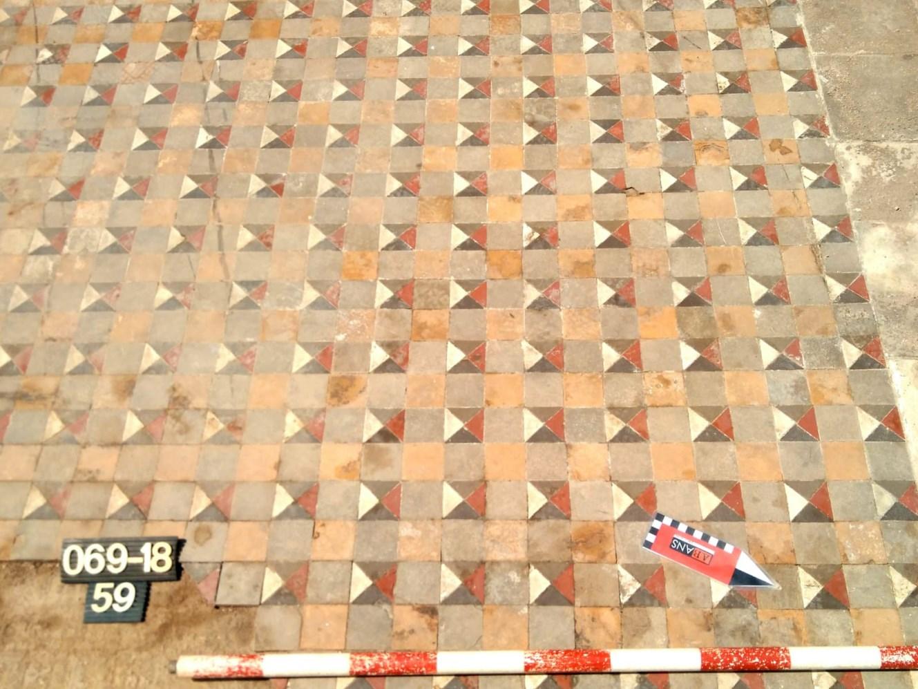 Detall dels mosaics del pavelló de les Belles Arts de l'Exposició de 1888. Foto: Jordi Serra