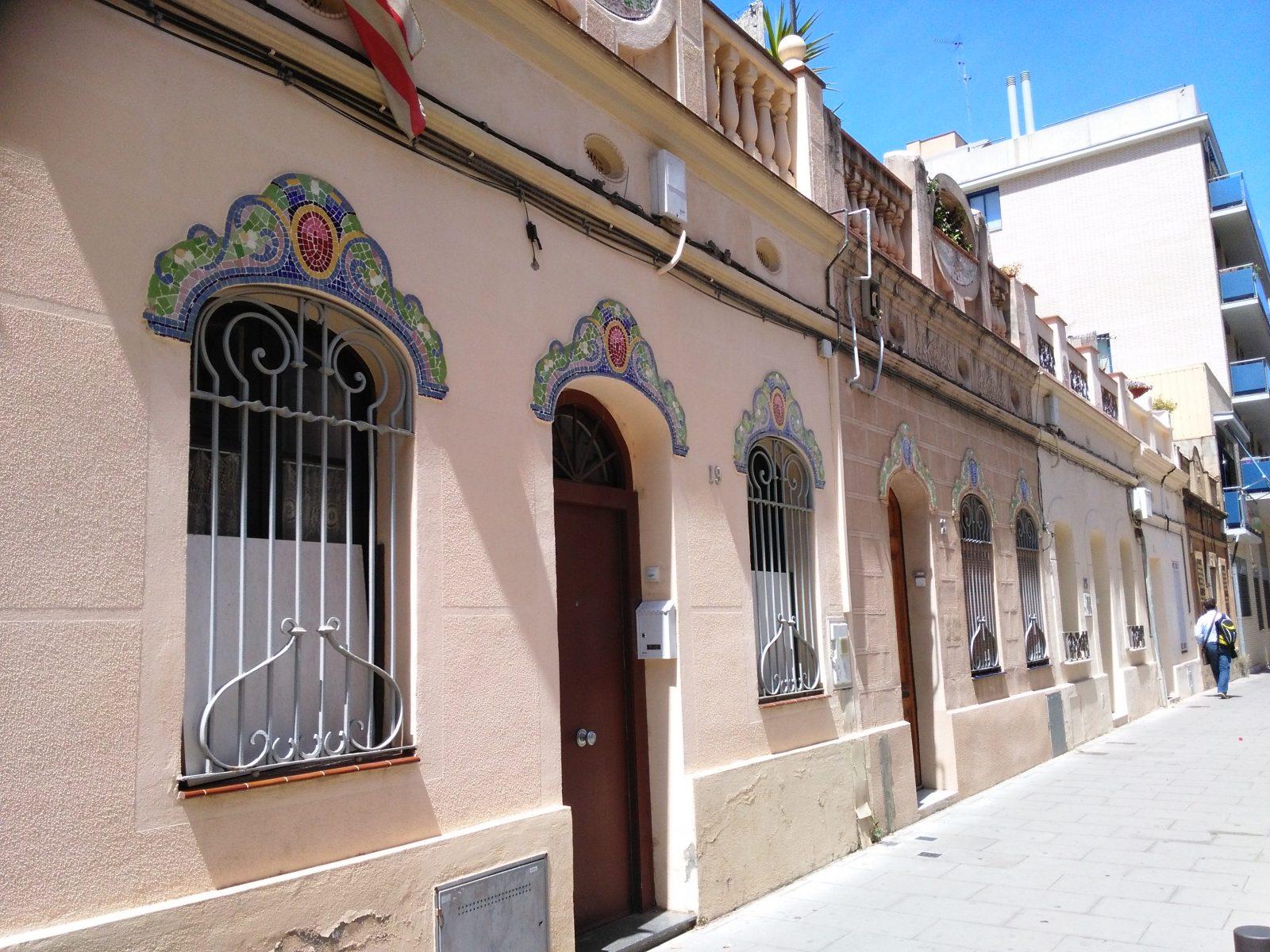 Sant Andreu. Pg Coello 19-21. Mosaic de tessel·les. Foto: Sandra R.P.