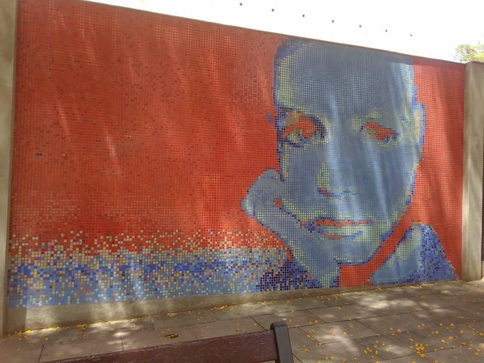 Sant Martí. C. Marina 197. Mosaic de tessel·les. Foto: Olga Martínez
