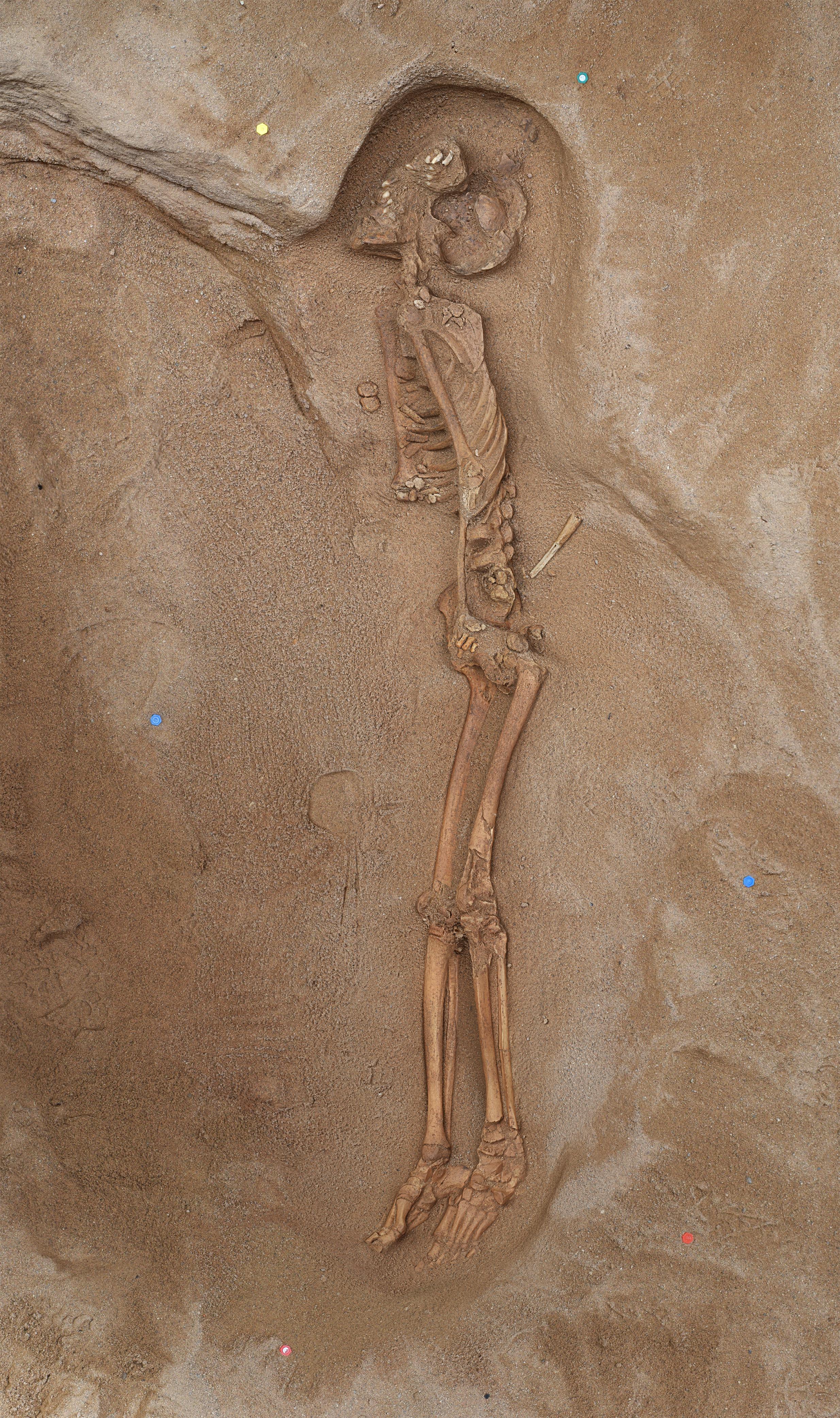 Fotogrametria de la sepultura islàmica. Autor: Rubén Ramírez