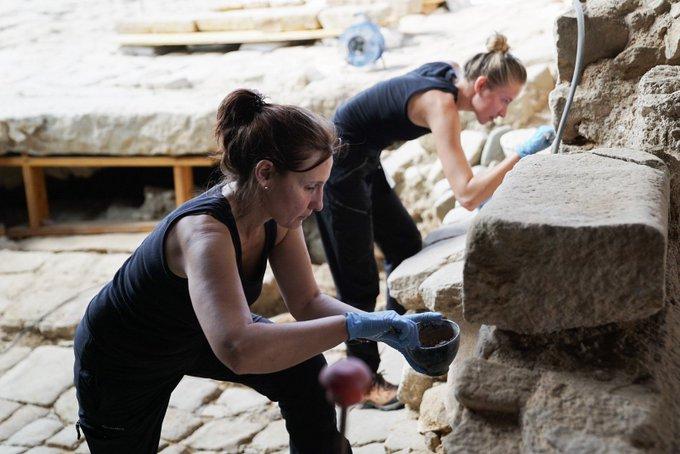 Treballs de restauració a la Casa Sanmartí