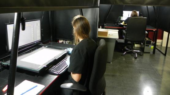 Foto d'una sessió de digitalització