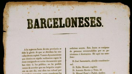 Ban enderrocament de les murallas. 1843