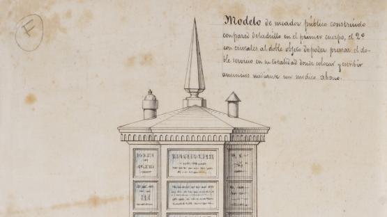 Plànol d'un model d'urinari públic