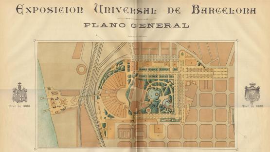 Plano general de la Exposición Universal de Barcelona