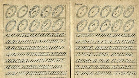 Quadern de cal•ligrafia de l'any 1930-40