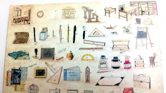 Dibuix estris escolars