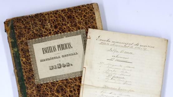 Quadern de matrícula del curs 1886-87a l'Escola Municipal de Música
