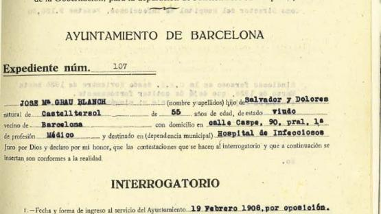 Sworn declaration of the director of the Hospital d'Infecciosos, 1 May 1939