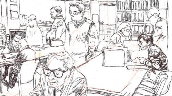 Dibuix de la sala de consulta