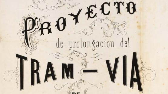 Project for extending the tram from Gràcia to La Barceloneta. 1864
