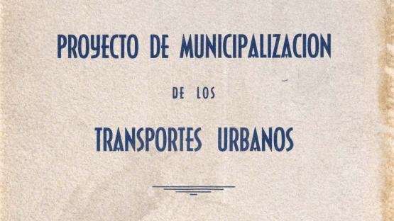 Municipalisation of urban transport project, report. 1952.