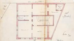 Plan of the site of the cellar of the house at Passeig Mare de Déu del Coll 79. 1909