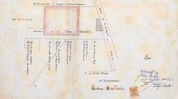 Plànol d'emplaçament d'una casa a la Riera de Sant Miquel 43