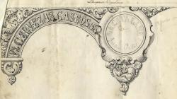 Sign of a gaseous beer factory Rambla Estudis. 1855