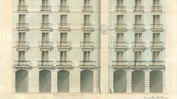 Plànol de façanes de la casa de Salvador Uger als carrers Mercaders 2 i Bòria 1