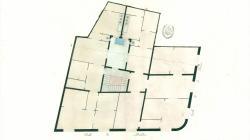 Plànol de planta pisos als carrers Mercaders i Bòria