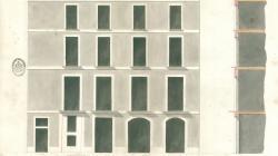 Plànol de façana i secció al carrer Templaris