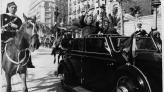 Entrada del Generalísimo Franco a la Ciudad de Barcelona, 21 de febrero de 1939. Autor Pérez de Rozas. AMCB. Fons Ajuntament de Barcelona: B101 Actes protocol•laris, exp. 5 de 1939.
