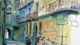 Illustration of Bisbe Caçador street, AMCB main building