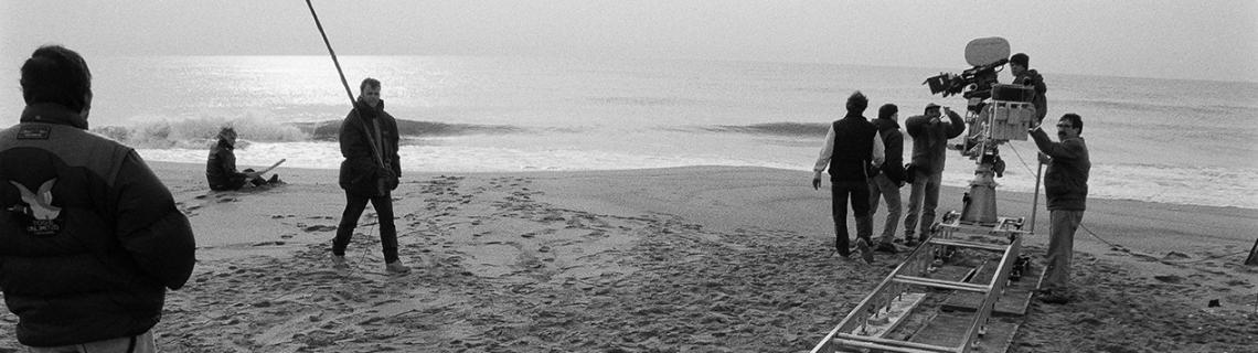 Es veu el rodatge del film La Teta y la luna, 1994. AFB. E. Olivella