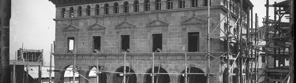 Vita de les obres de lAjuntament del Poble Espanyol