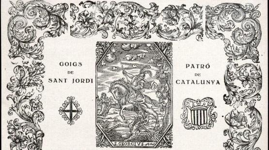 Grabado del Goig de Sant Jordi de Artur Masriera, del 1922