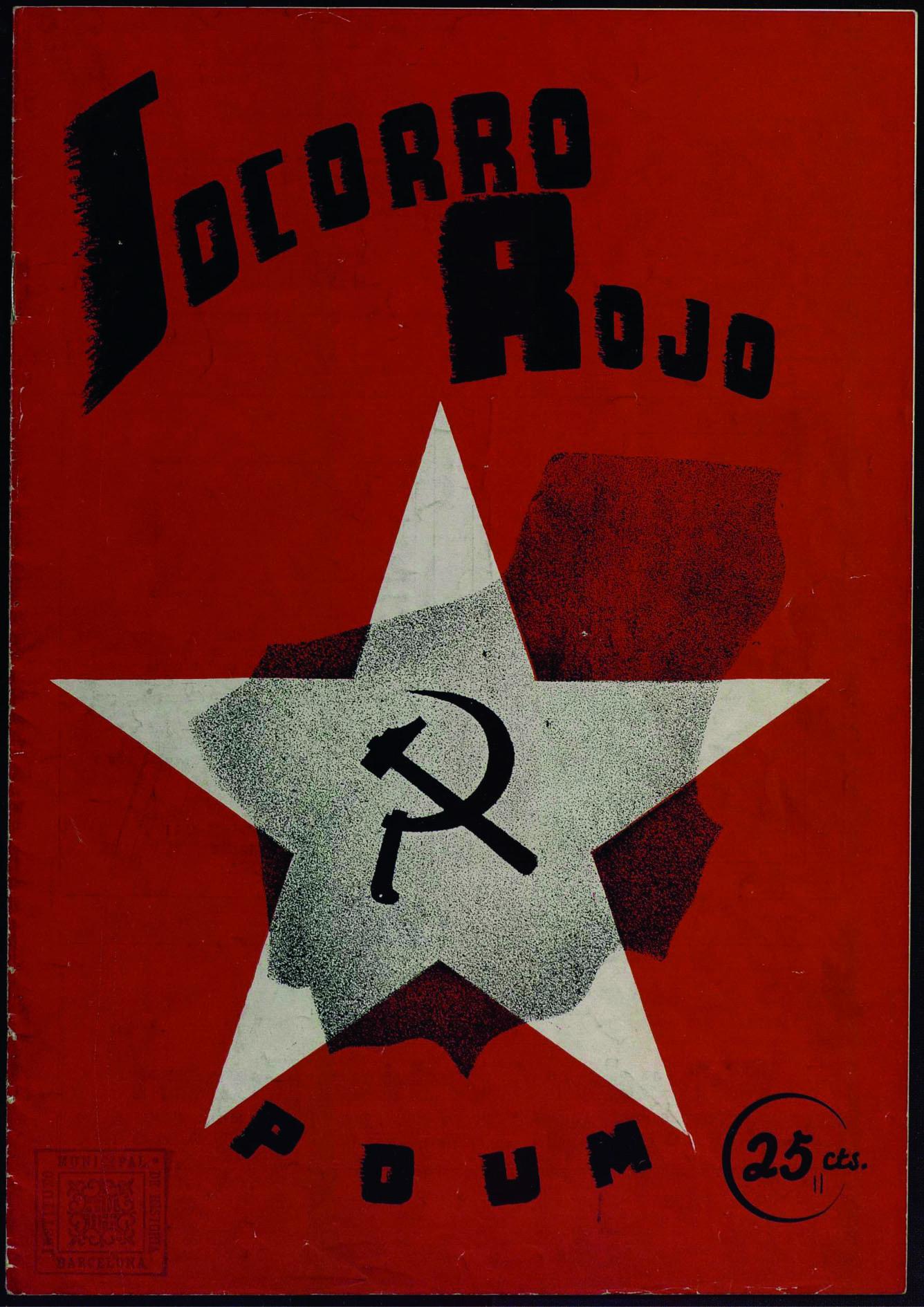 Socorro rojo: órgano del Comité Central del Socorro Rojo del P.O.U.M. Núm. 6 (15 abril 1937) portada