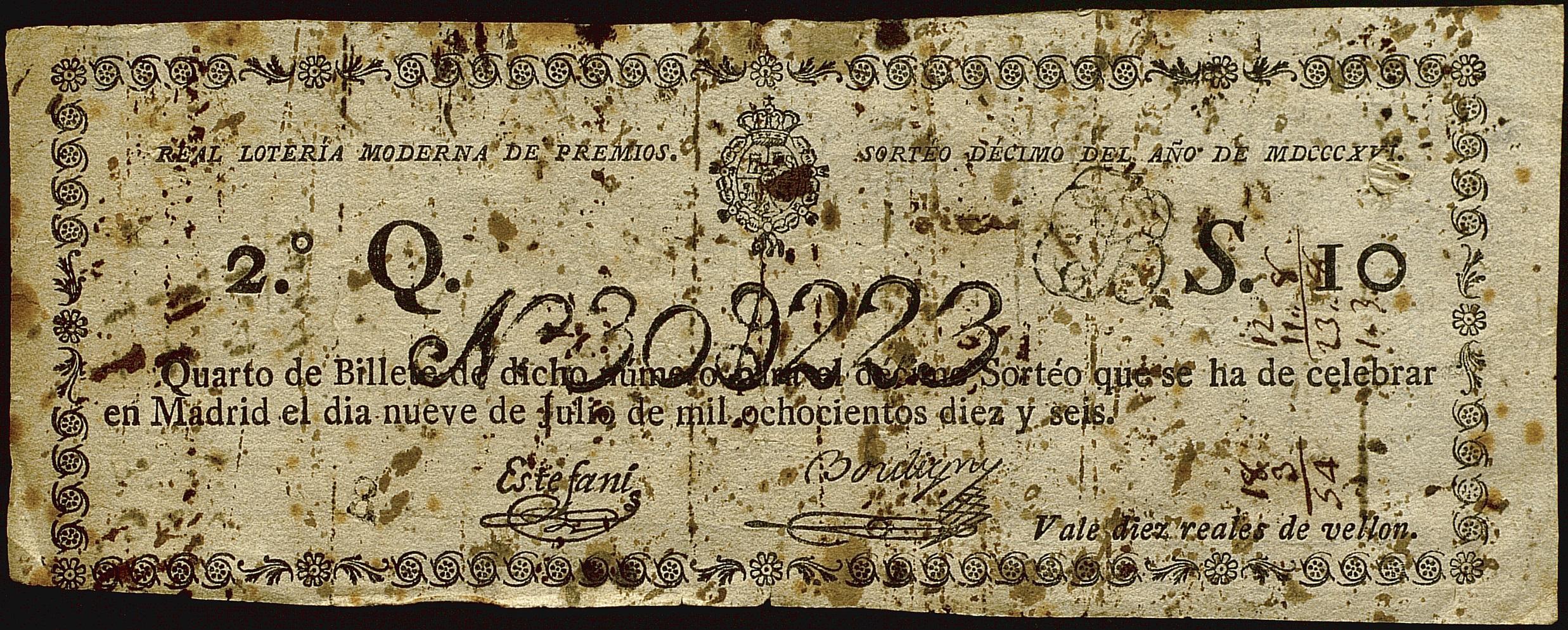 Billete de la Loteria